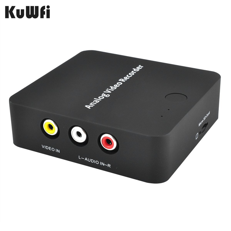 Kuwfi Analog to Digital Format Video AV Capture Recorder Converter RCA CVBS HDMI Out to MicroSD TF Card Support VHS VCR Tape цена и фото