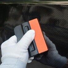 EHDIS виниловая пленка Магнитный скребок bondo с замша Войлок край наклейка для автомобиля мойка Чистка скребок для льда Чистка ручных инструментов