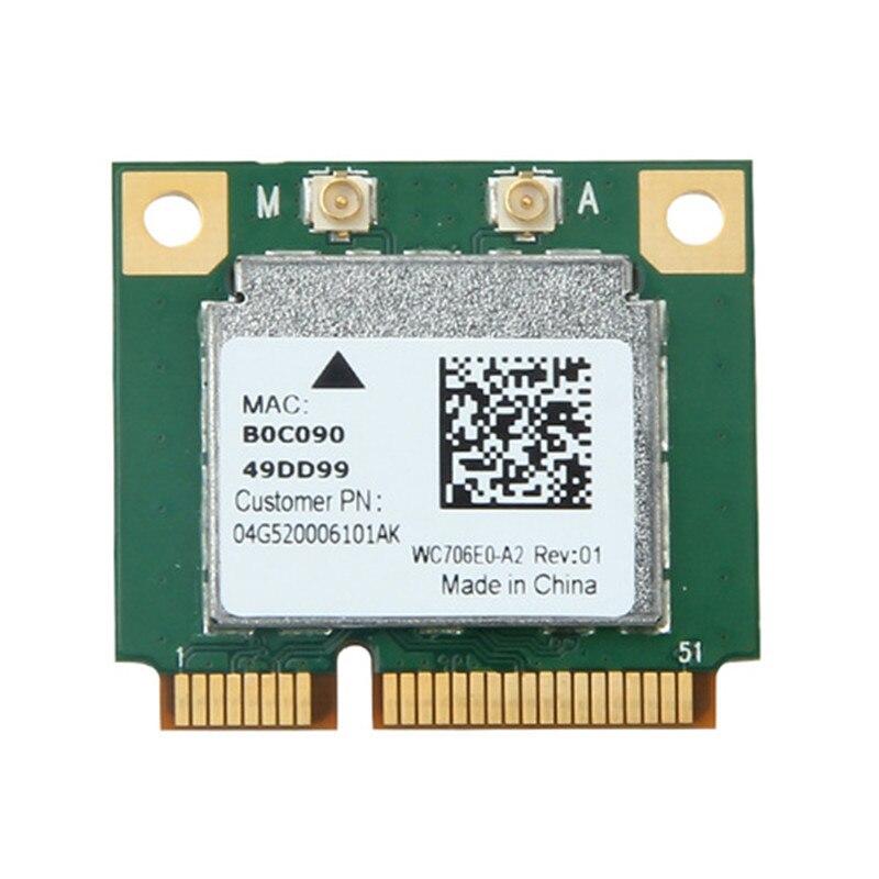 Dual Band Combo Wireless Mezza Mini PCI-E Wlan WiFi Scheda Bluetooth 433 Mbps 802.11a/b/g/n/ac 2.4/5G BT 4.0 Per Realtek RTL8821AE