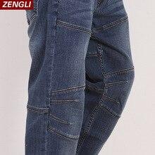 Zengli синие джинсы Мужчины Новый прямой повседневные джинсы мужские Свободные Эластичность сращивания ковбойские джинсовые брюки мужские д...(China (Mainland))