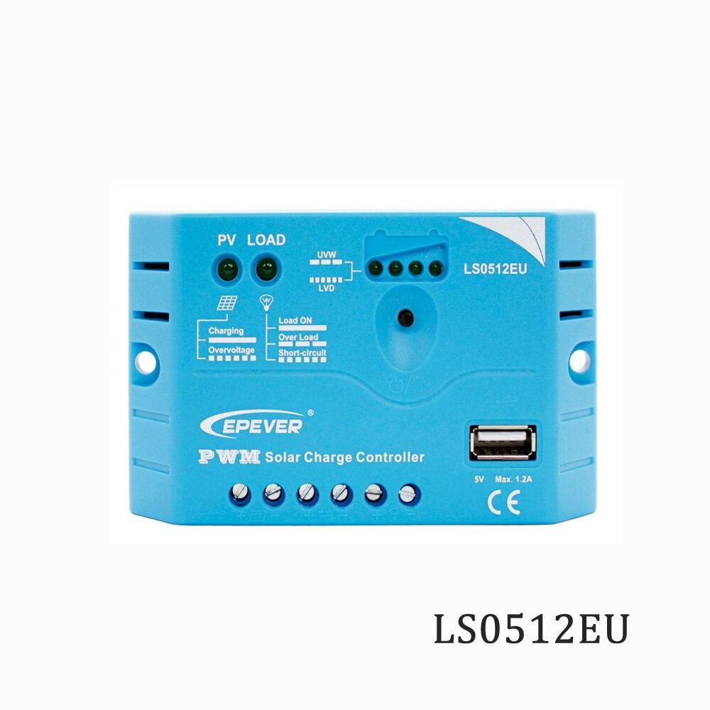 LS0512EU 5A 12V Solar Charge Controller Epsolar PWM PV 50W 18V Solar Panels charger Regulators 5V USB portLS0512EU 5A 12V Solar Charge Controller Epsolar PWM PV 50W 18V Solar Panels charger Regulators 5V USB port