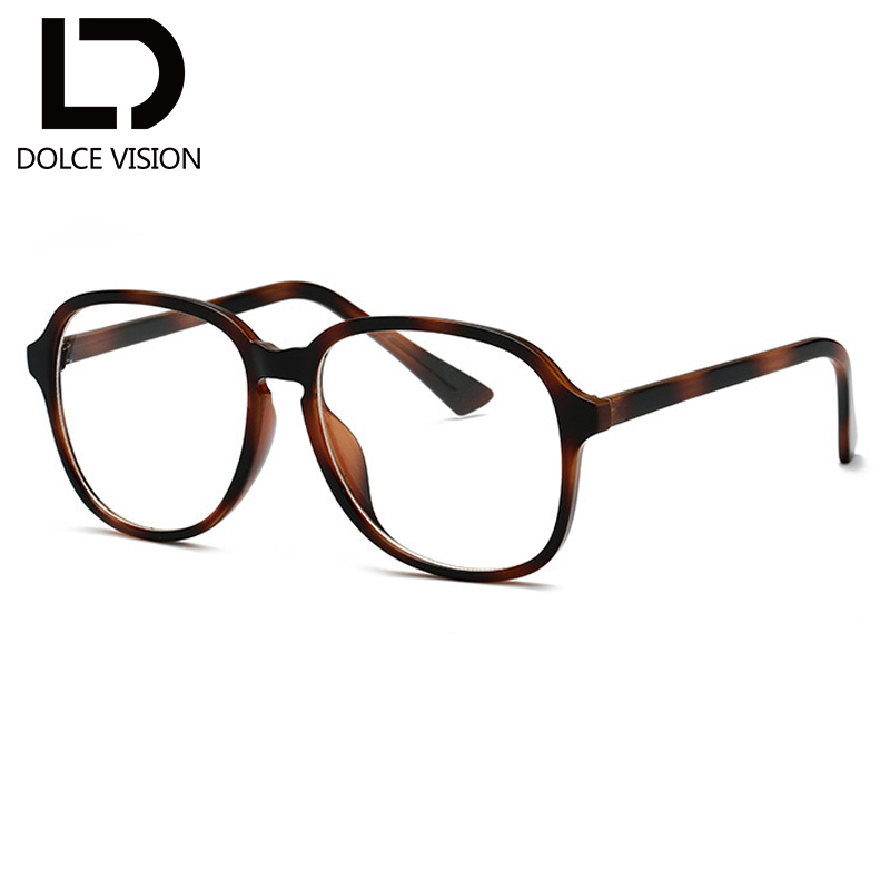 a07fc523c7f0 DOLCE VISION Pink Oval Women Glasses Fashion Trending Eyeglasses Frame  Clear Lens High Quality Oversize Glossy Spectacles 2018-in Eyewear Frames  from ...
