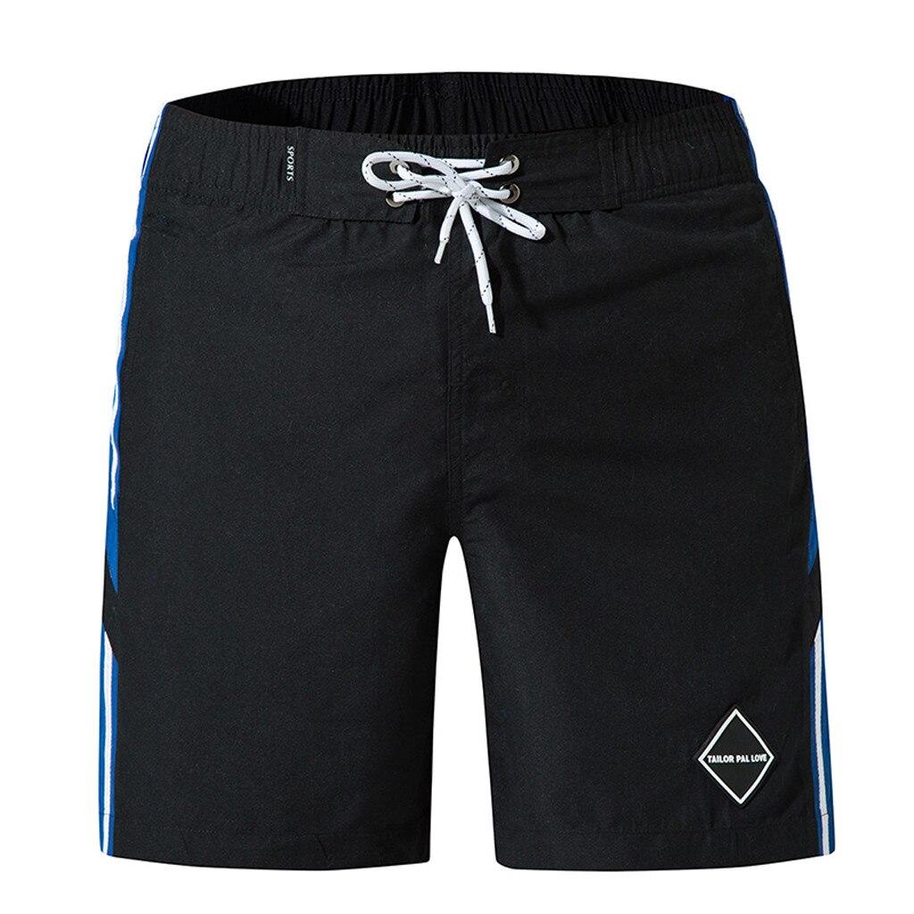 mens swimming trunks white shorts Solid color swimwear men sweat mesh liner boardshort beach surf praia quick dry board Dec24