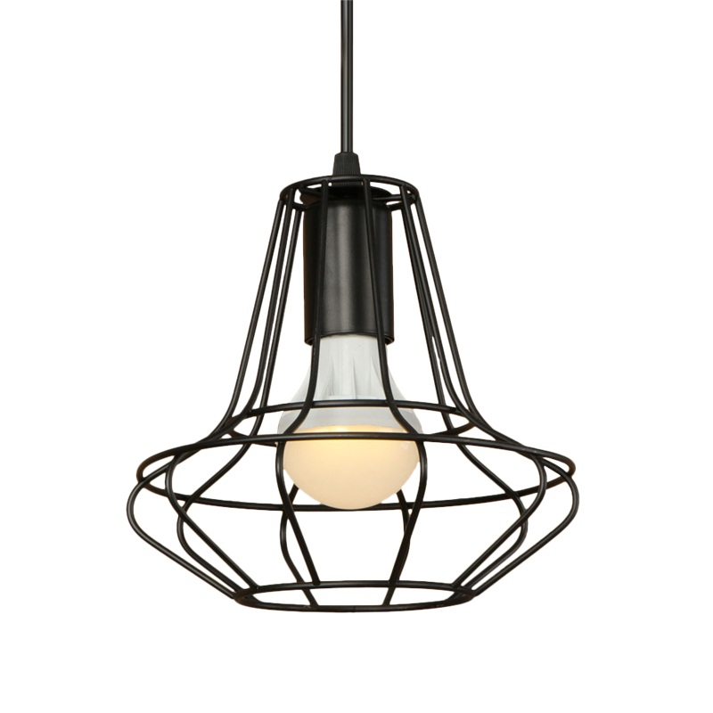 Simple Loft Style Iron Droplight Industrial Vintage LED Pendant Light Fixtures E27 Metal RH Retro Hanging Lamp Home Lighting edison loft style vintage light industrial retro pendant lamp light e27 iron restaurant bar counter hanging chandeliers lamp