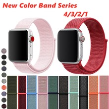 Sport Nylon loop Band For Apple Watch 4 44mm 40mm Soft Nylon Breathable Replacement Wrist Strap For Iwatch Series3/2/1 38mm 42mm цена и фото