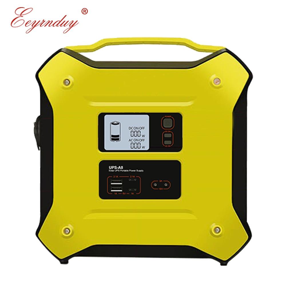 12 V AC DC 500 W portátil UPS batería solar ininterrumpida multifunción de almacenamiento de energía al aire libre fuente de alimentación de emergencia