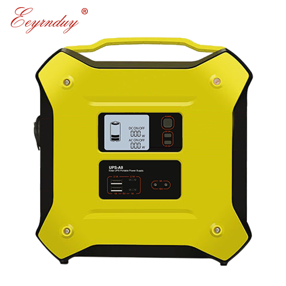 12V AC DC 500W portable UPS solar battery uninterruptible multi-function outdoor energy storage emergency power supply