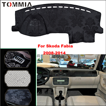 Tommia Car Dashboard Cover Mat Light Avoid Pad Photophobism Anti-slip protection Mat For Skoda Fabia 2008-2014