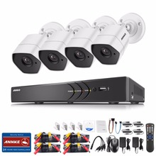 ANNKE 4CH 3MP HD Security Camera System and (4) 3-Mega Pixels Weatherproof CCTV Cameras, IR Night Vision and Metal Housing