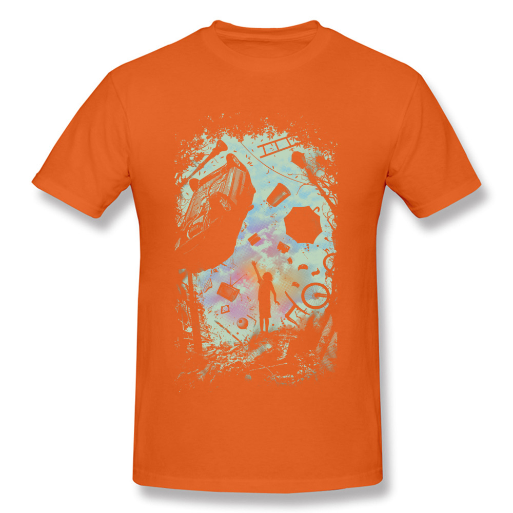 Gravity Play Special Short Sleeve Design T Shirts Cotton Fabric O Neck Mens Tops Shirts Casual Top T-shirts Summer Gravity Play orange