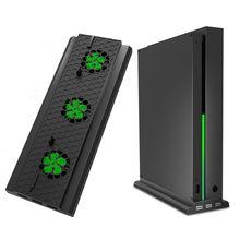 Вертикальная подставка с охлаждающим вентилятором для Xbox One X, держатель консоли кулер с 3 usb портами для консоли Xbox One X
