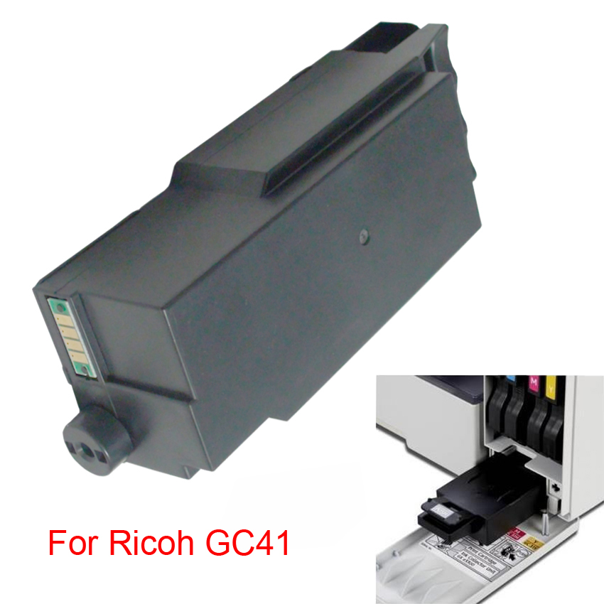 einkshop New Maintenance Tank For Ricoh GC41 Waste Ink Tank For Ricoh GC 41 For Ricoh SG3100 SG3100SNW SG2100 SG2010L SG3110dnw 1000ml bottle sublimation ink for ricoh gc21 gc31 gc41 heat transfer ink for sg3100 sg3110 sg2100 e3300n 4colors are available