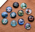 24X  12mm cat pattern Round  Handmade Photo Glass Cabochons & Glass Dome Cover Pendant Cameo Settings