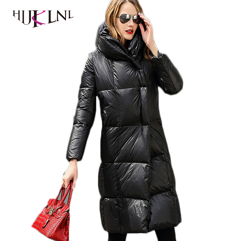 HIJKLNL Thick Female Hooded   Down   Parkas Female 90% White Duck   Down     Coats   2017 New Women   Down   Jackets Winter Overcoats PL106