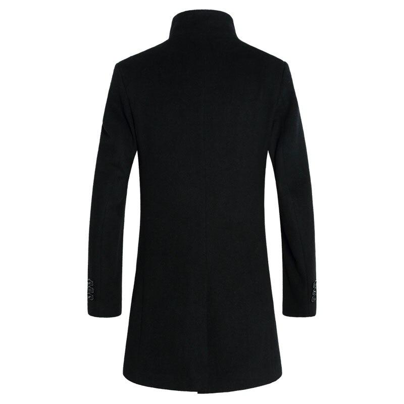 b996ccd349cf Σακάκια   παλτά 2019 New Long Wool Coat Men Fashion Pea Coat Jacket Wool    Blends Winter Jackets Mens Woolen Overcoat