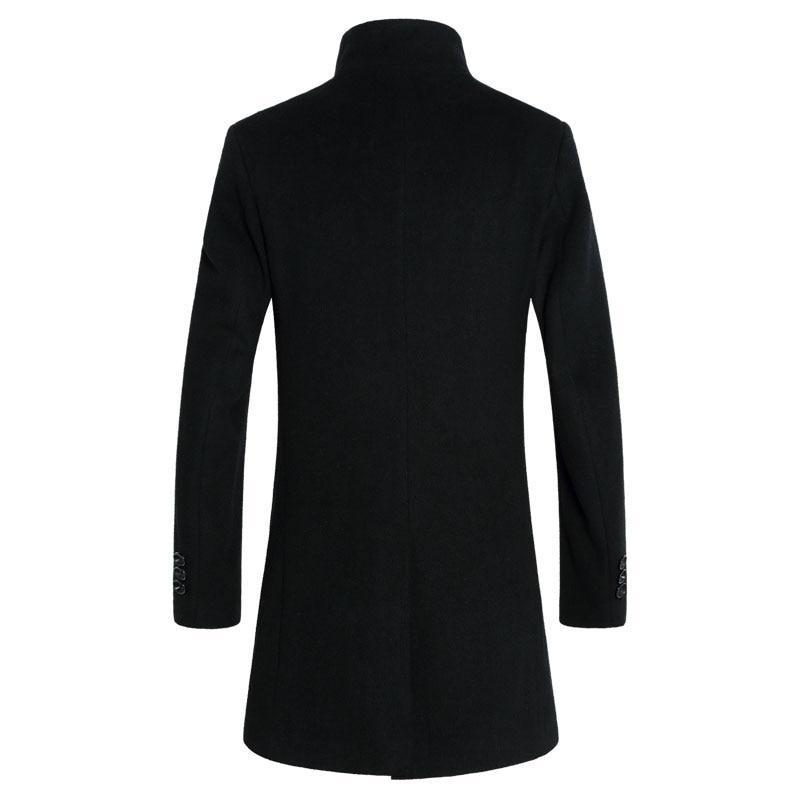 2019 nuevo abrigo largo de lana para hombre a la moda chaqueta de lana y mezcla chaquetas de invierno para hombre abrigo de lana-in Lana y mezclas from Ropa de hombre    2