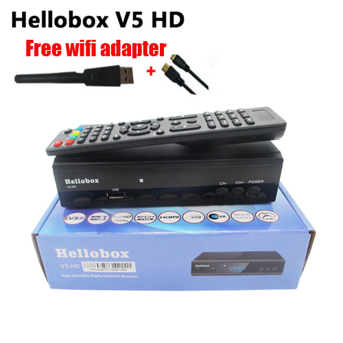 US $30 0  Hellobox V5 Satellite Receiver DVBS2 IPTV For Ccam Function  Online Software Upgrade Support Newcam Mgcam SCAM-in Satellite TV Receiver  from
