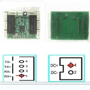Image 5 - 8 linha de pinos mini design ethernet switch placa de circuito para ethernet switch módulo 10/100mbps 8 porta pcba placa módulo de interruptor led