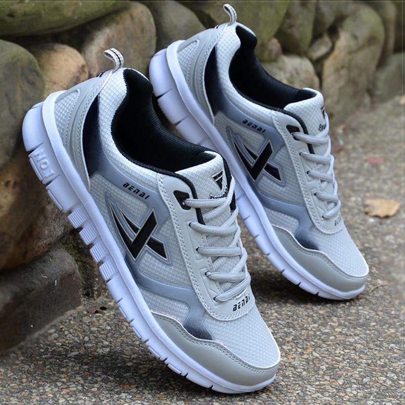 Men Shoes Size 36-46 Adult Men Sneakers Summer Breathable Krasovki Shoes Super Light Casual Shoes Male Tenis Masculino Sneakers zapatillas de moda 2019 hombre