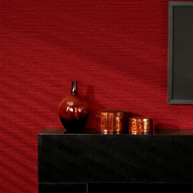 PVC Waterproof 3D Embossed Wallpaper Modern Simple Plain Color Red Pink Green Black Wall Papers Living