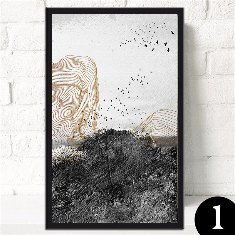Unramed Modern abstraction canvas wall art painting home decoration living room print modern painting201810-DYJB