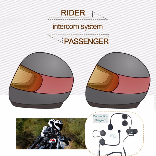 1set Good News To Intercom Talking Pillon Passenger Motorcycle Bluetooth Intercom font b Helmet b