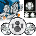 """For Harley Davidson Motorcycle 7"""" LED Daymaker Headlamp Headlight Auxiliary Passing Lights For Harley Road King Harley Touring"""