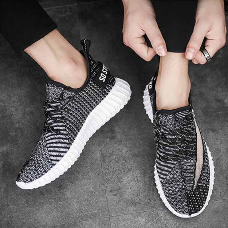 2019 New Running Shoes Tennis Shoes Men's Fashion Breathable Casual Shoes Cocoa Couples Non slip Shoes Comfortable To Wear