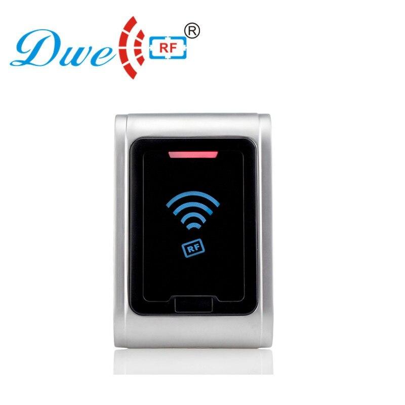 DWE CC RF Control Card Readers Metal Waterproof Rfid Reader Ip68 Wiegand 26 125khz Rf Id Access Control