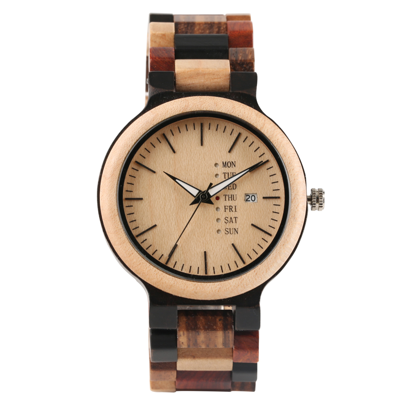 Summer Warm Color Wooden Men Wrist Watch Creative Lovely Bamboo Wood Quartz Watches Fold Clasp Timber Watch Band Bangle Clock yisuya inverted triangle bamboo wood wrist watch men top brand genuine leather band strap quartz creative watches wooden clock