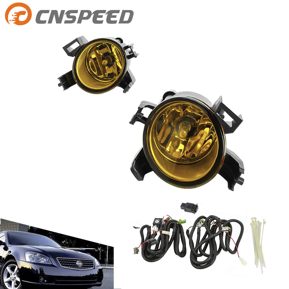 CNSPEED Fog light for 2005 - 2006 Nissan Altima 2004 - 2006 Quest fog lamp Clear Yellow Lens Bumper Fog Lights Driving Lamp 1pair clear lens fog lights bumper driving lamps with bulbs for nissan altima sedan 2007 2012