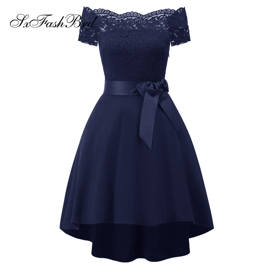 Vestido Festa Boat Neck Short Sleeves Formal Elegant   Dresses   Mini Short Women Evening   Dresses   Party   Prom     Dress