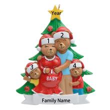 Wholesale Resin Maxora Pregenant Bear Couple Personalized Ornament For Christmas tree, Holiday Home Decor, gift and keepsakes цены