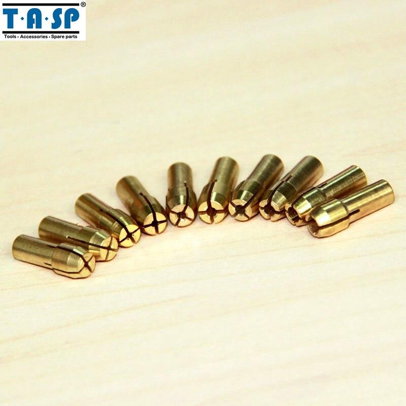 TASP 10pz Set di punte per trapano in ottone mini set di utensili - Accessori per elettroutensili - Fotografia 4
