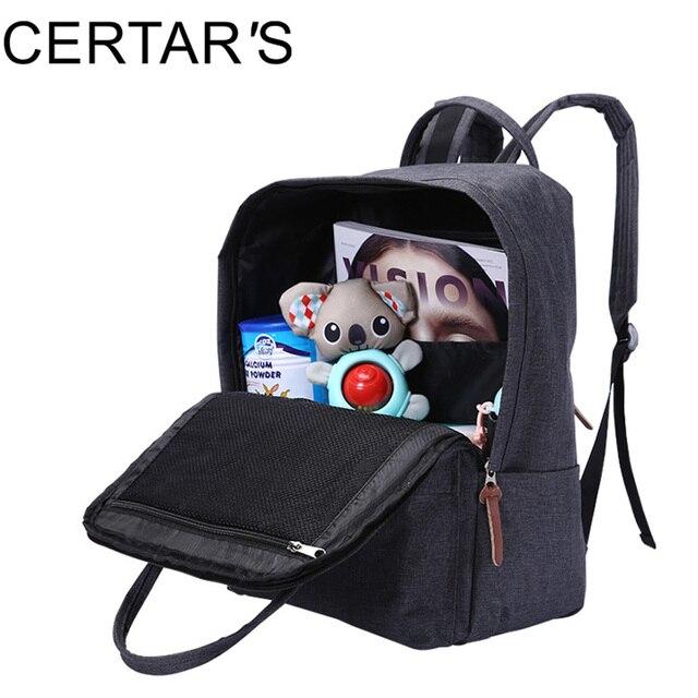 CERTAR'S Large Capacity Changing Shoulder Backpack Mother Kids Stroller Pram Bags Maternity Bag Diaper Nappy Bag Travel Stroller