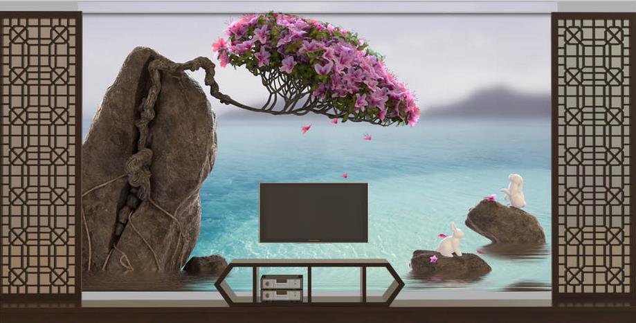 Simple Chinese style Flowers Wallpaper For Walls 3 D Luxury Bedroom Decor Living room TV Boulder blue sea Modern wallpaper 2017 фонокорректоры boulder 1008