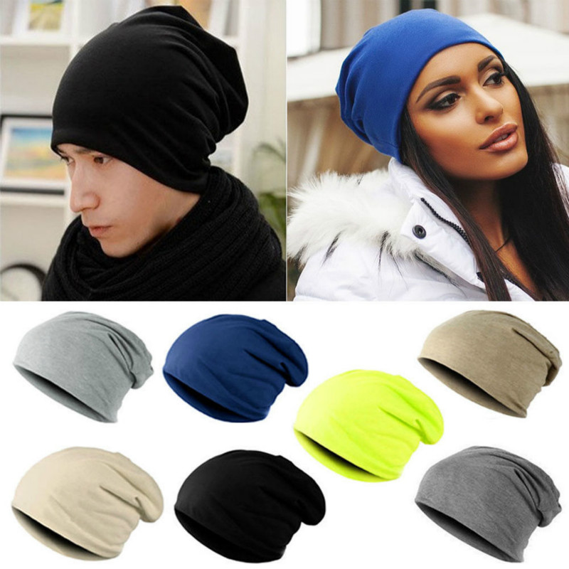 Unisex Women Men Beanie Hat Oversized Slouch Hat Cap Winter Outdoor Ski Hat