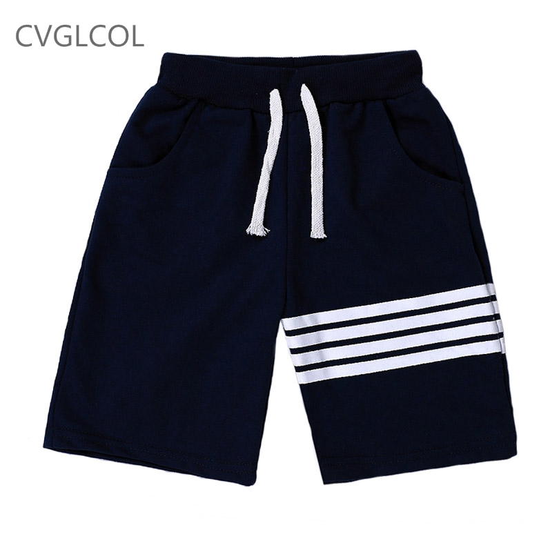 CVGLCOL Children Pants Boys And Girls Harme Pants White Stripes Printed Sport Kids Trousers Toddler Pant Summer Clothes(China)