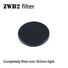 ZWB2 filter for UV 365nm light , 20.5mm diameter, 2mm thickness