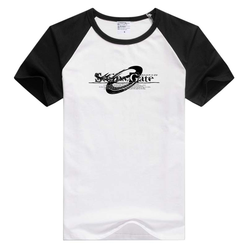 T-shirts High Quality Casual Printing Tee Steins;gate El Psy Kongroo Anime Japan Series T-shirt Black Basic Tee Summer T-shirt Tops & Tees