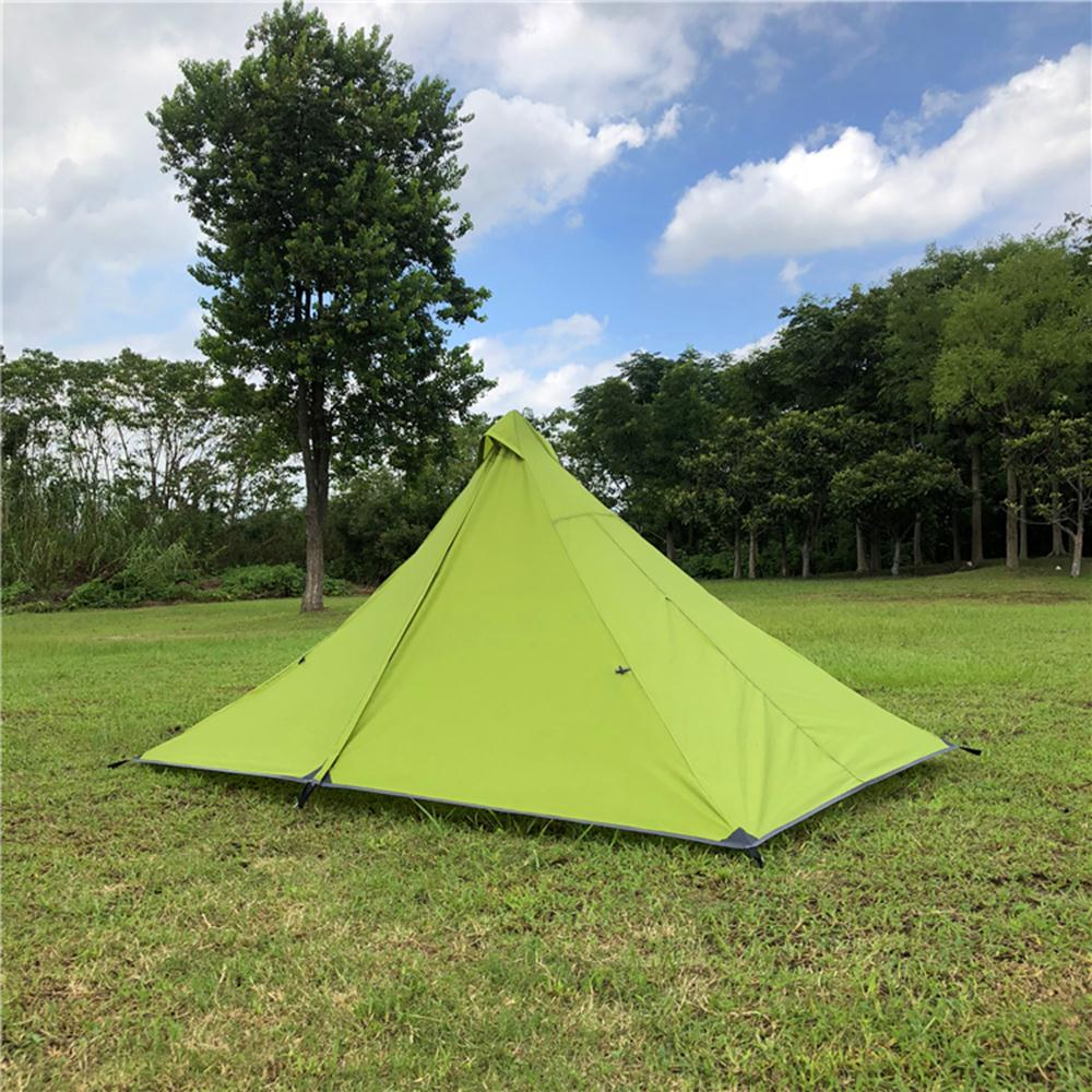 все цены на Pyramid Tent Durable Single Bedding Camping Tent Green Camping Folding Tent Oxford Cloth Mosquito Net