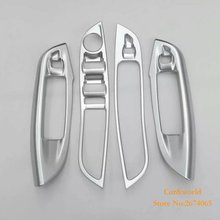 For Ford Focus 3 Glass Switch button cover trim Door window Interior Panel ABS chrome 2015 2016 Car Styling Accessories