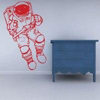 الفضاء الخارجي ستريت لصائق ديكور الحضانة الفن ملصق مائي رائد الفضاء رائد فضاء مساحة الحضانة صائق الحائط الفينيل الفضاء الخارجي d