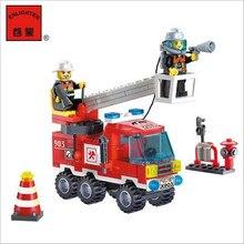 Комбинации! пожарный образовательных brinquedos различные строительные блоки головоломки подарки шт./компл. автомобиль