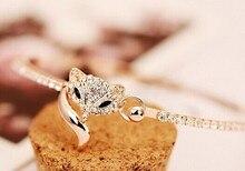 Fashion fox female bracelets bangles/korean luxury strass hand chain/pulsera mujer/pulseiras femininas/brazalete