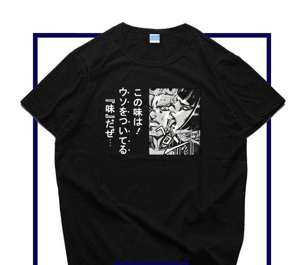 New JOJO's Bizarre Adventure Golden Wind Cosplay   T  -  shirt   Bruno Bucciarati men   t     shirt   Cotton Summer Short-sleeve Tees tops