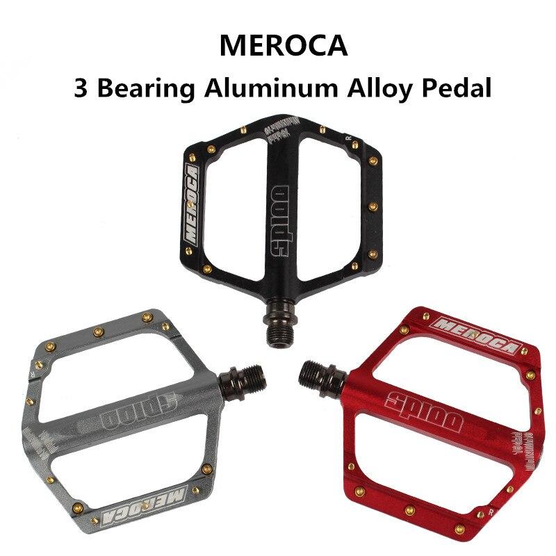 MEROCA vélo ultraléger pédale 3 roulement scellé vélo de route en alliage d'aluminium pédale VTT pédales pieds chevilles