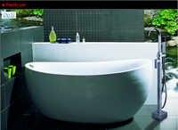 Dofaso brand Porcelain Rain Shower Faucet Single Handle Tub Mixer floor stand shower faucet
