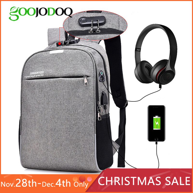 15.6 inch laptop Backpack Anti-theft Waterproof Men Laptop bag For Macbook Air Pro 13 14 15 with USB Charging Student backpack