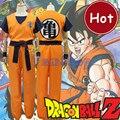 Anime Dragon Ball Z Goku Cosplay Outfit Roupa Dos Miúdos Conjunto Completo adulto Halloween Fontes Do Partido Traje Tamanho XXS-XXL Frete navio
